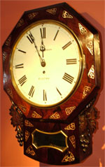Early Victorian 8 day fusee rosewood Drop Dial