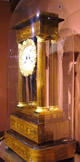 19th Century French Rosewood & Marquetry Portico Clock