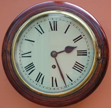 Rare late 19th Century small sized English Dial Clock