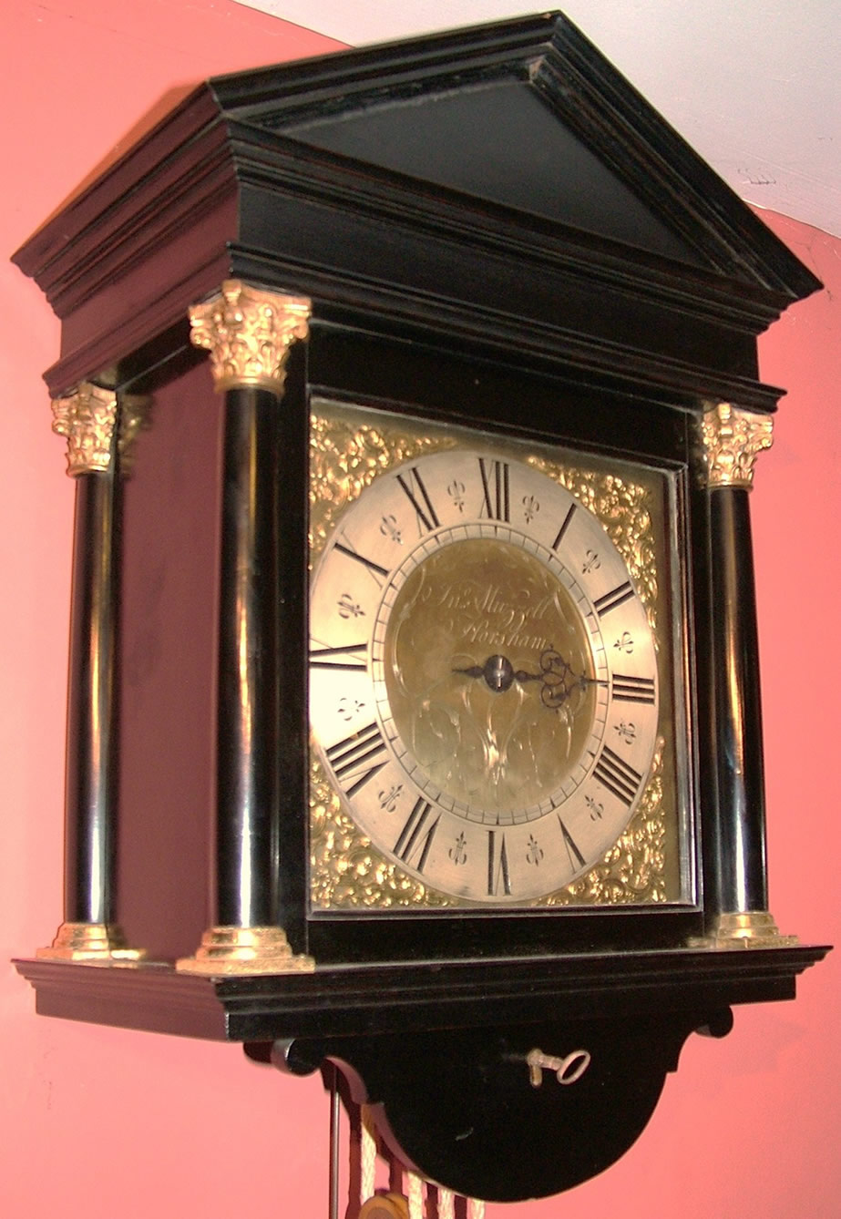 Antique Clocks Hooded Shelf Clock
