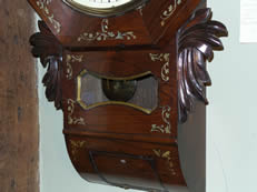 An English fusee drop dial wall clockt