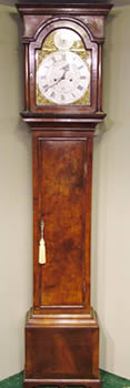 Mid 18th century figured walnut Longcase Clock