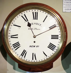 Rare 19th Century mahogany 8 day Fusee Dial Clock with small drop