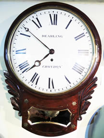 19th century English 8 Day Drop Dial