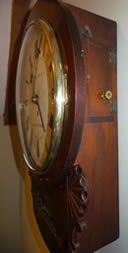 19th Century mahogany Drop-Dial Clock