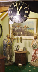 Fine and rare weight-drive gallery/turret clock of 2 month duration